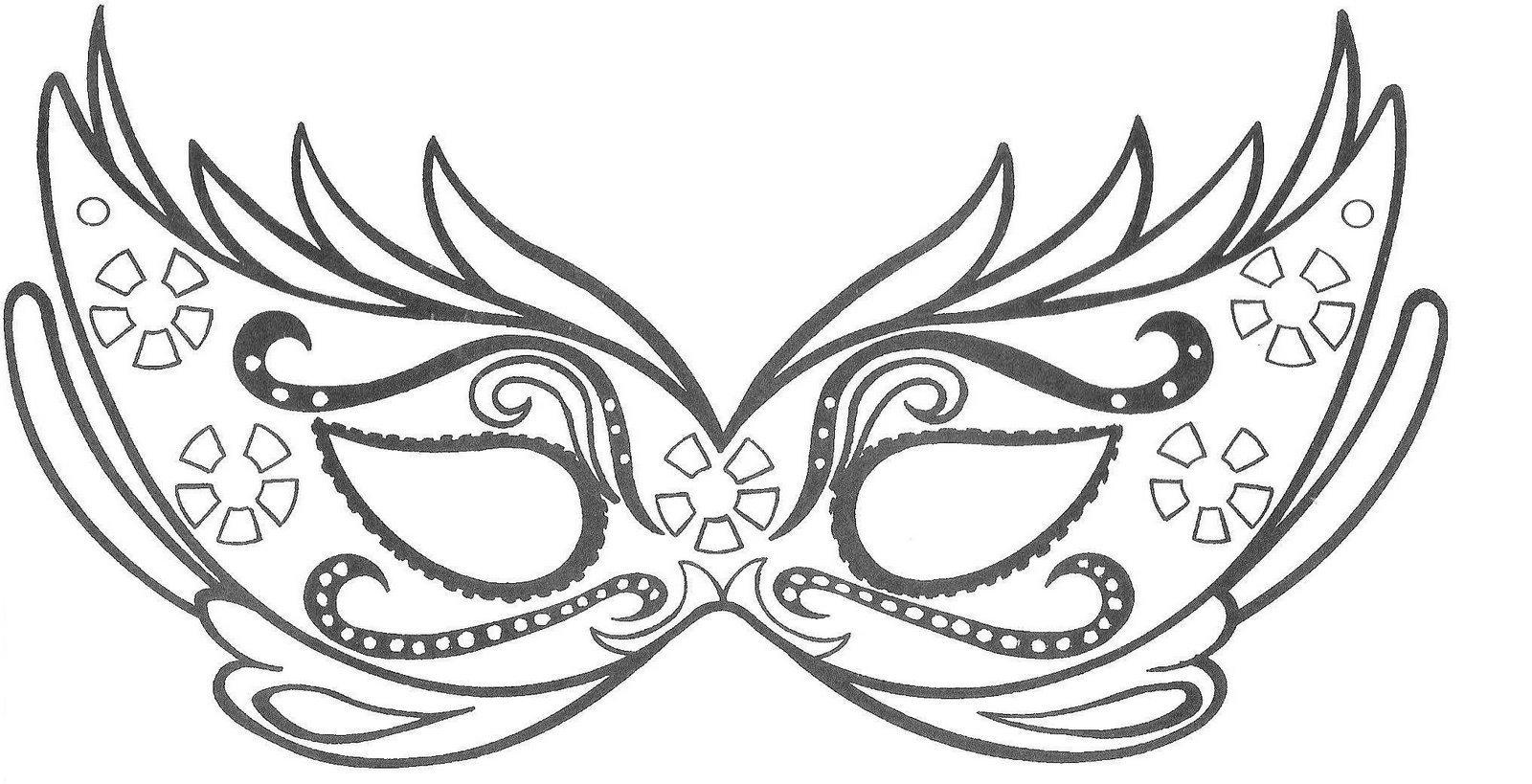 Mascaras De Carnaval Para Imprimir, Recortar Pintar E Colorir