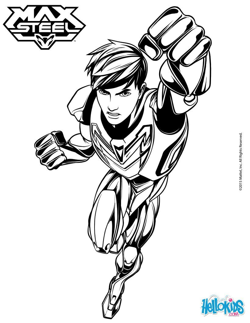 Max Steel Coloring Pages