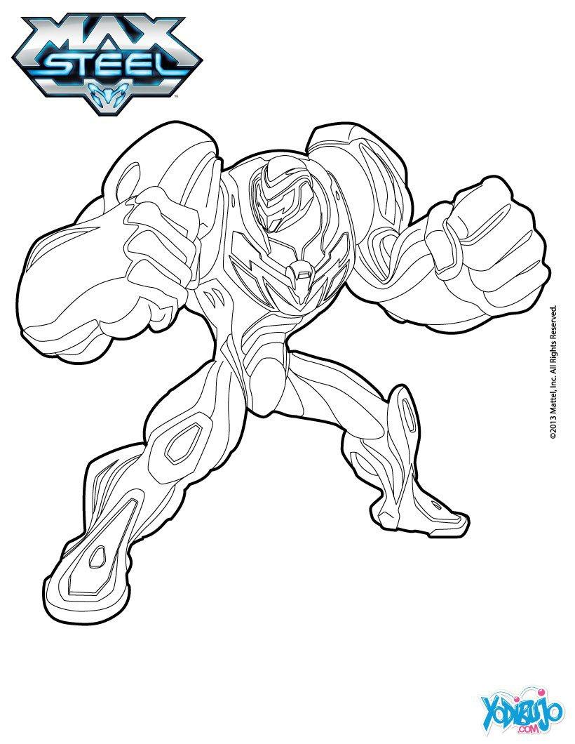 Max Steel Para Colorear, Max Steel Turbo Para Imprimir