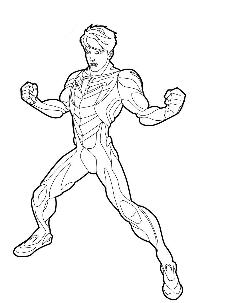 Max Steel Para Colorir No Jogos Online Wx