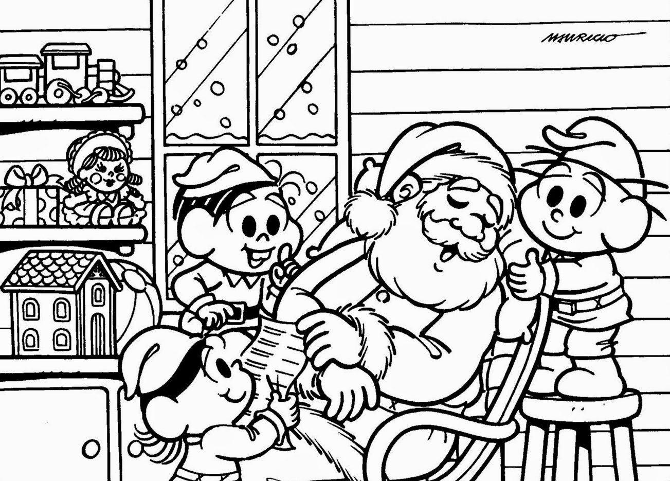Melhores Desenhos Para Colorir Do Papai Noel E Natal