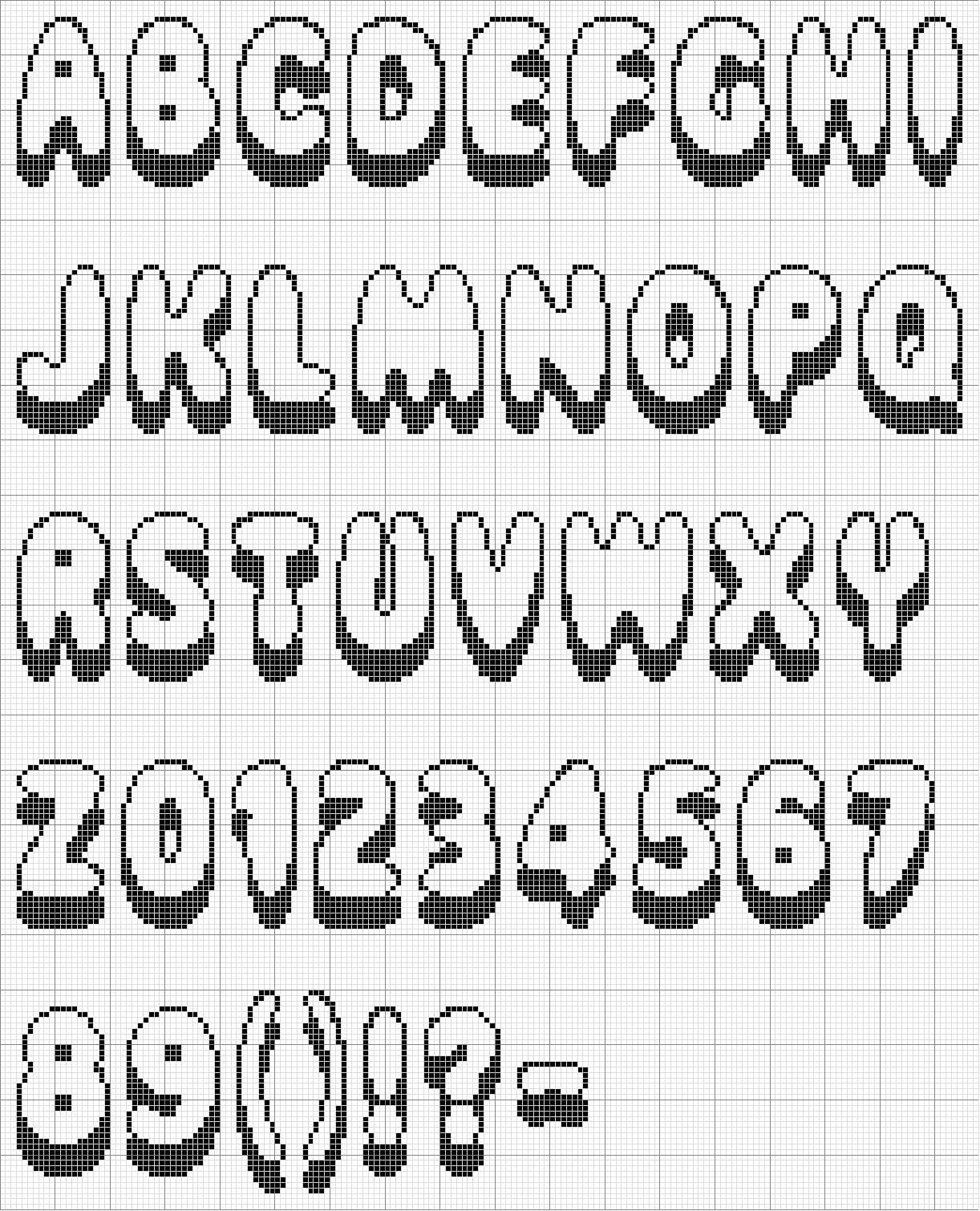Meus Pontinhos (ponto Cruz E Gráficos)  Gráficos De Letras