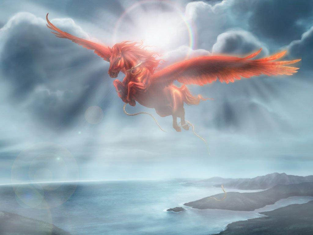 Mitologia Grega  Pégasus O Cavalo Alado (criatura)