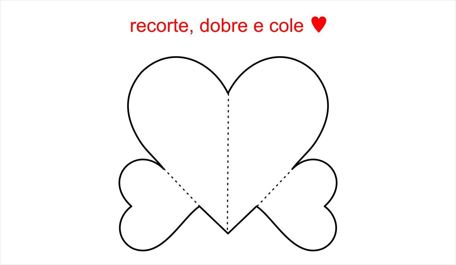 Molde De Coração Para Imprimir, Recortar