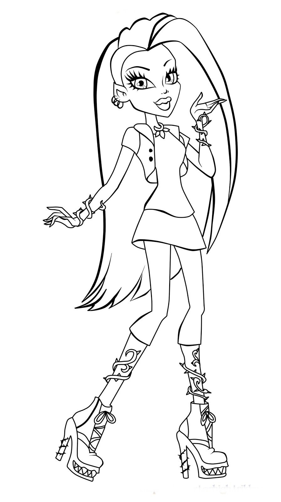 cute monster high coloring pages | Imagens De Monster High Para Colorir