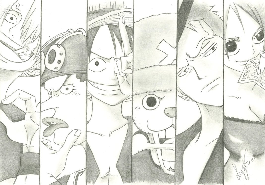 My One Piece Drawing By Layzemichelle On Deviantart