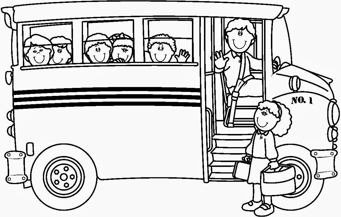 Ônibus Escolar Para Colorir
