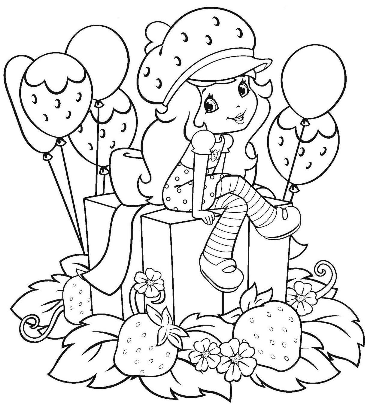 Desenho Para Colorir Moranguinho
