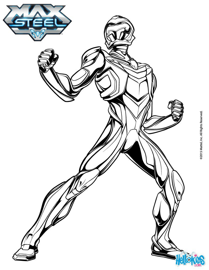 Nuevos Dibujos Para Colorear De Max Steel