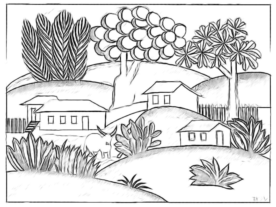 paisagens para colorir