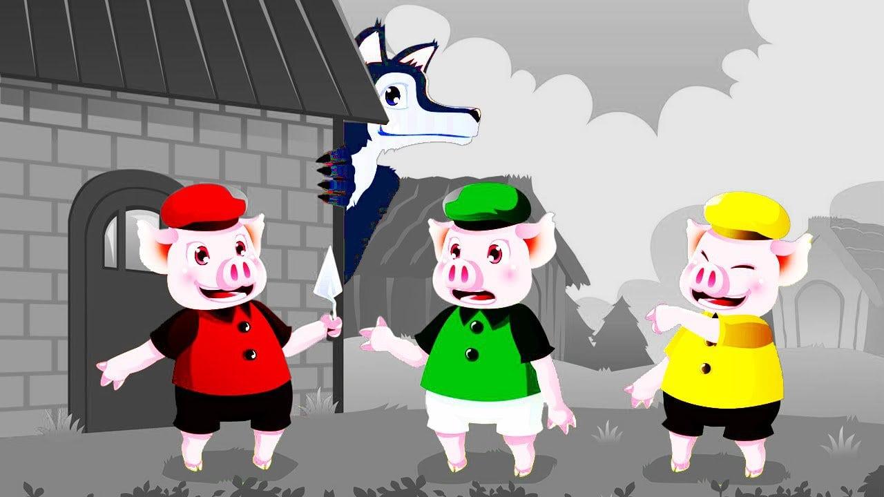 Os Três Porquinhos E O Lobo