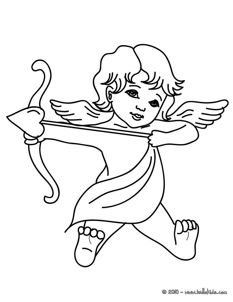 Páginas Para Colorir Cupido