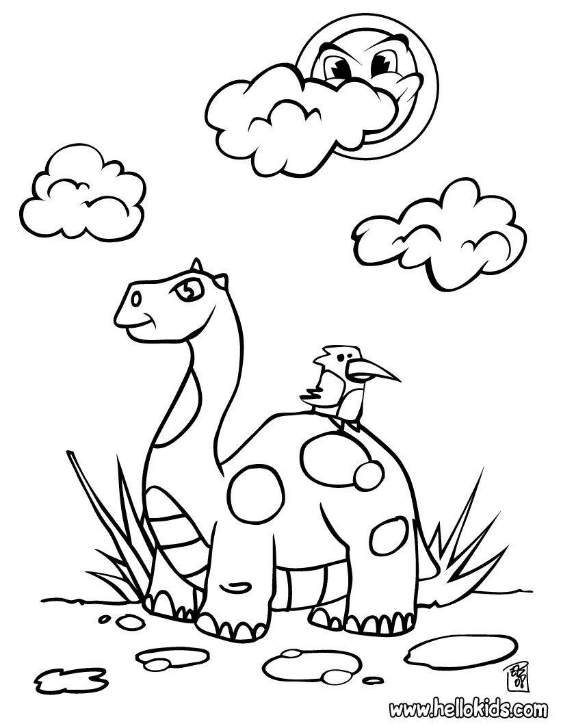 Páginas Para Colorir Dinossauro   86 Desenhos Para Colorir De