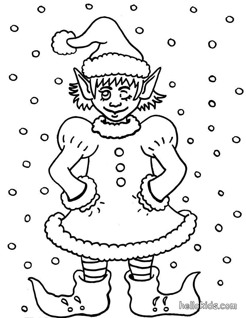 Páginas Para Colorir Espirito De Natal
