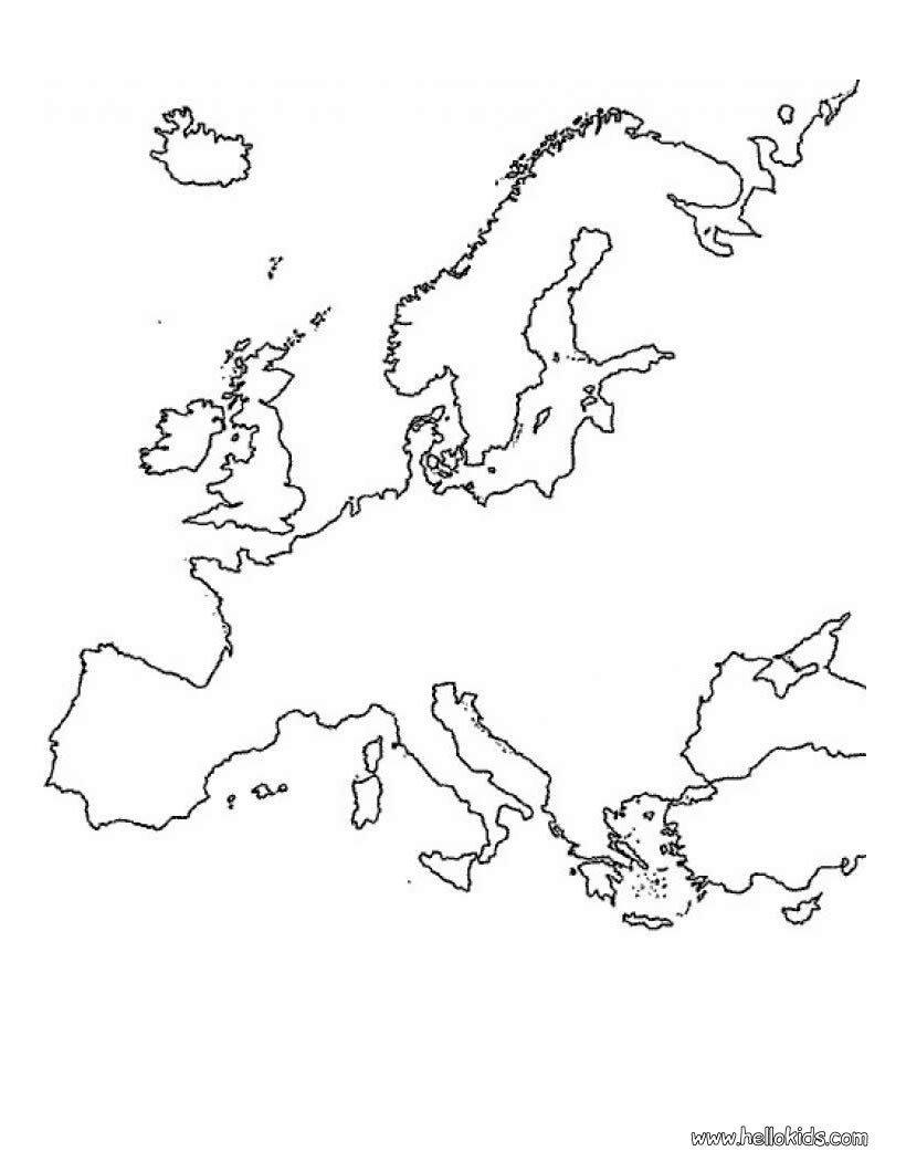 Páginas Para Colorir Mapas