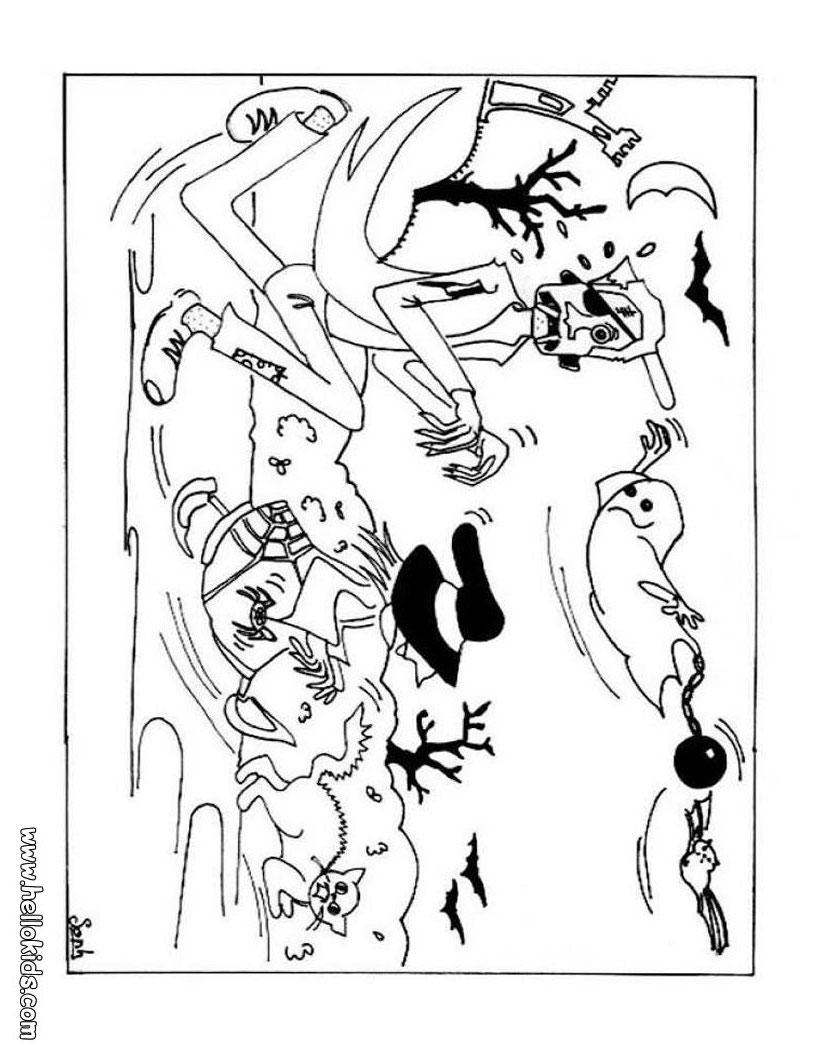 Páginas Para Colorir Monstros Do Dia Das Bruxas