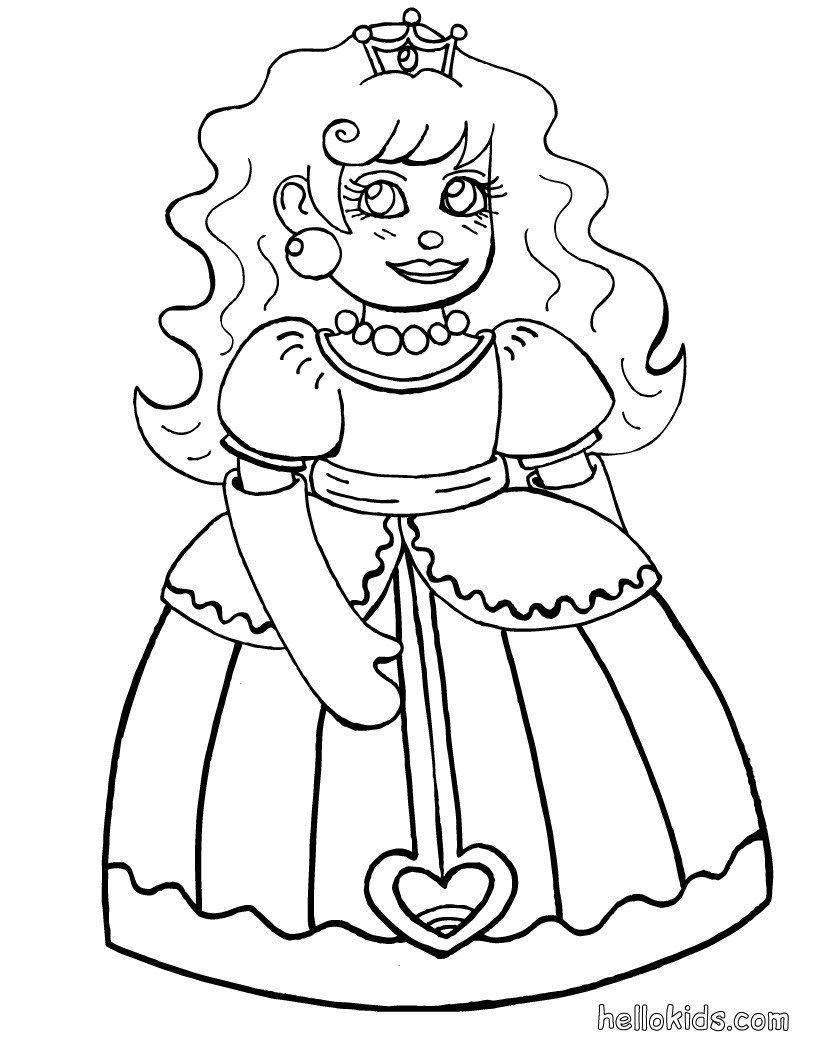 Páginas Para Colorir Princesas