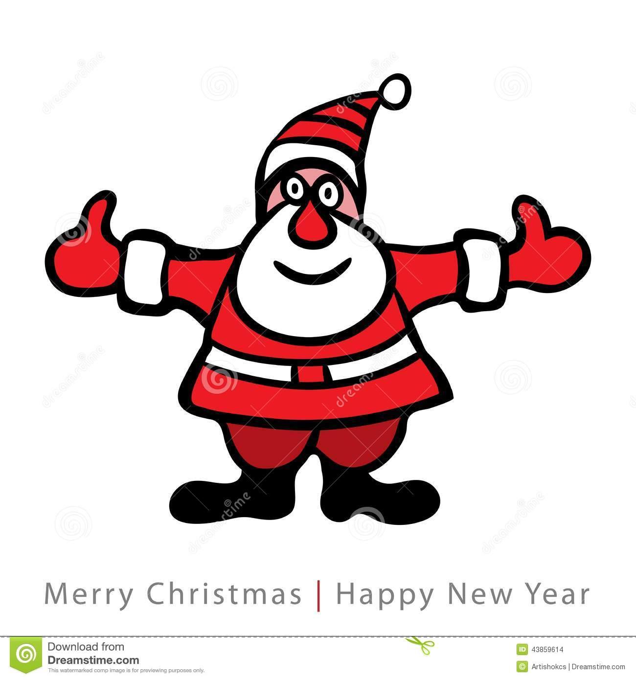 Papai Noel Colorido No Fundo Branco Ilustração Do Vetor