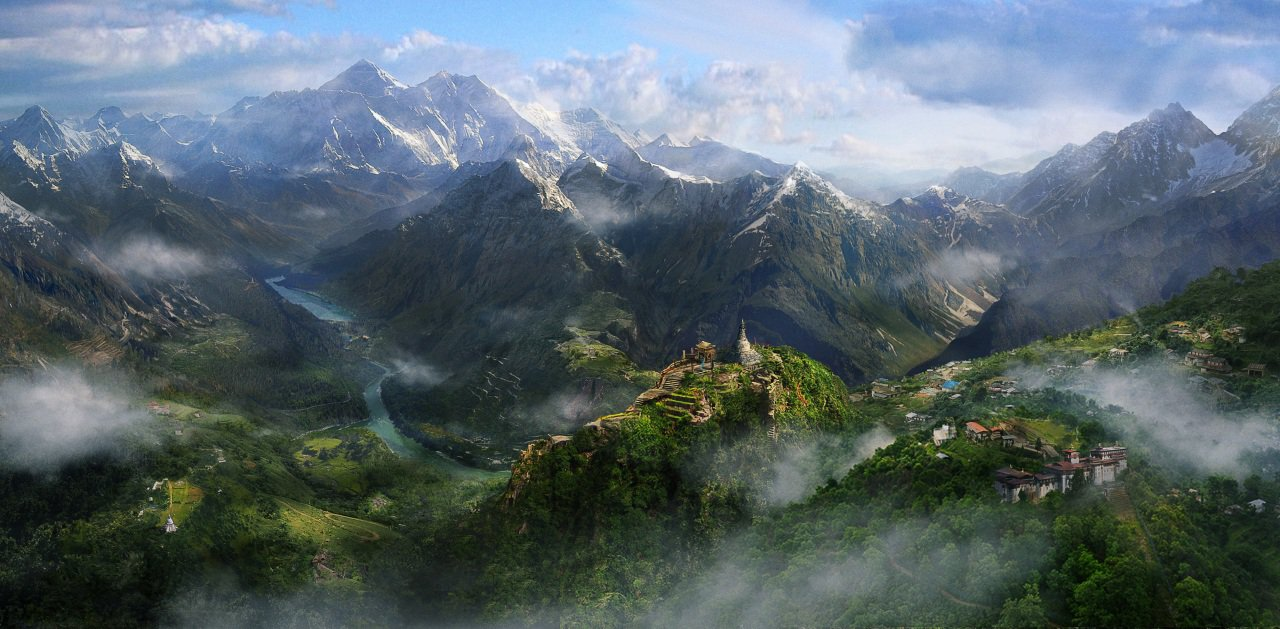 Papeis De Parede Far Cry 4 Montanhas Pintura De Paisagem Jogos