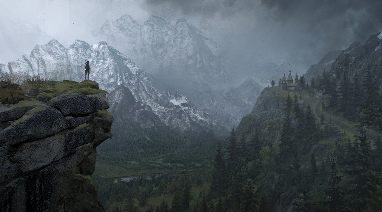 Papeis De Parede Montanhas Rise Of The Tomb Raider Pintura De