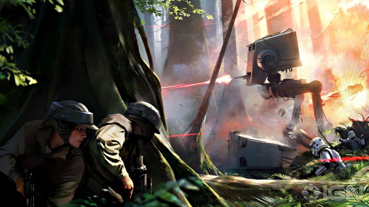 Papeis De Parede Pintura Star Wars Battlefront Concept Art Robô