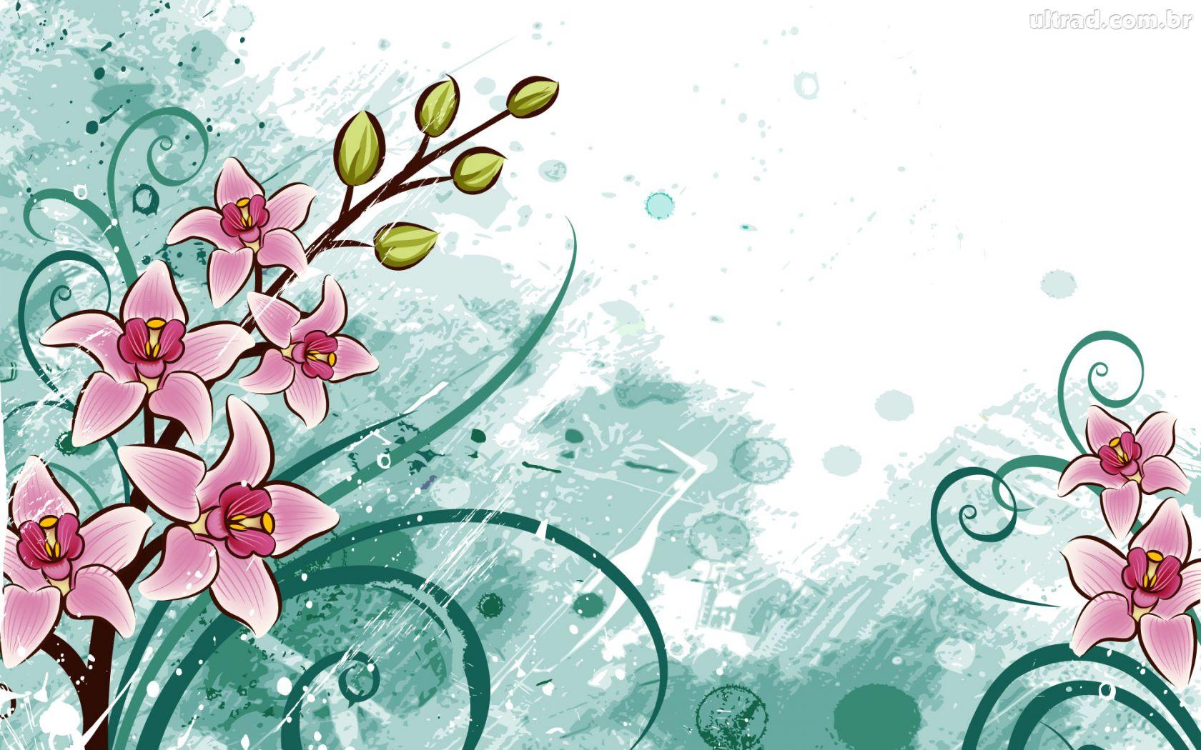 Papel De Parede Desenho Das Flores