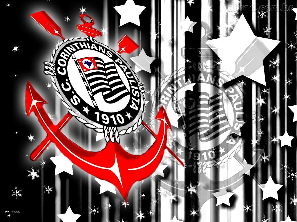 Papel De Parede Escudo Do Corinthians Com Estrelas