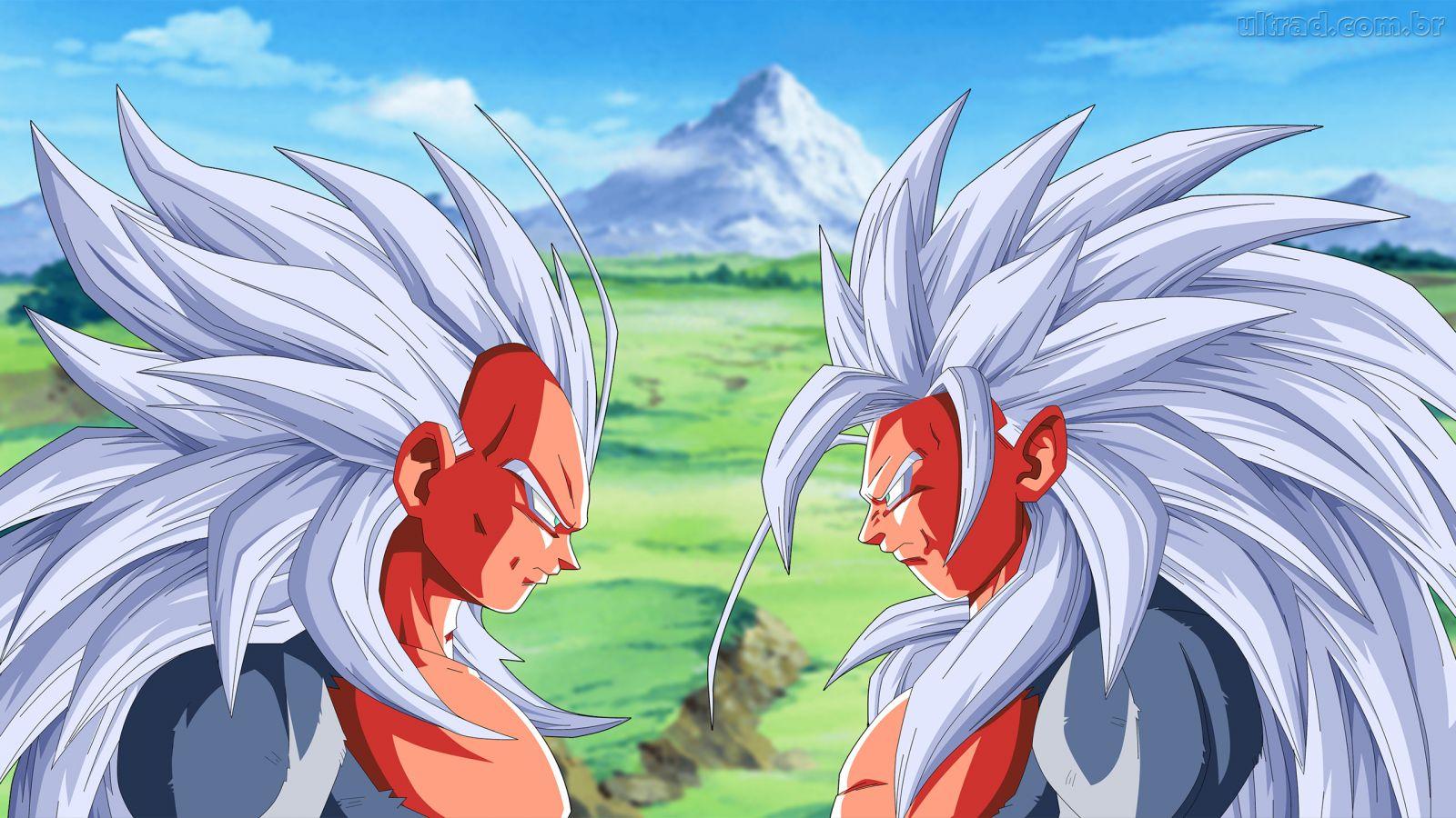 Papel De Parede Vegeta E Goku Super Saiyajin 5