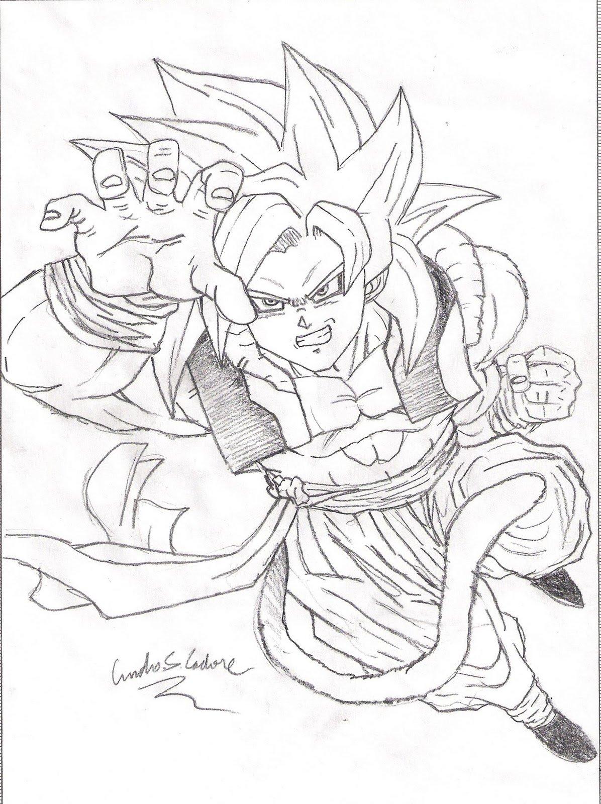Para Colorir Dragon Ball Gt Desenhos Tattoo