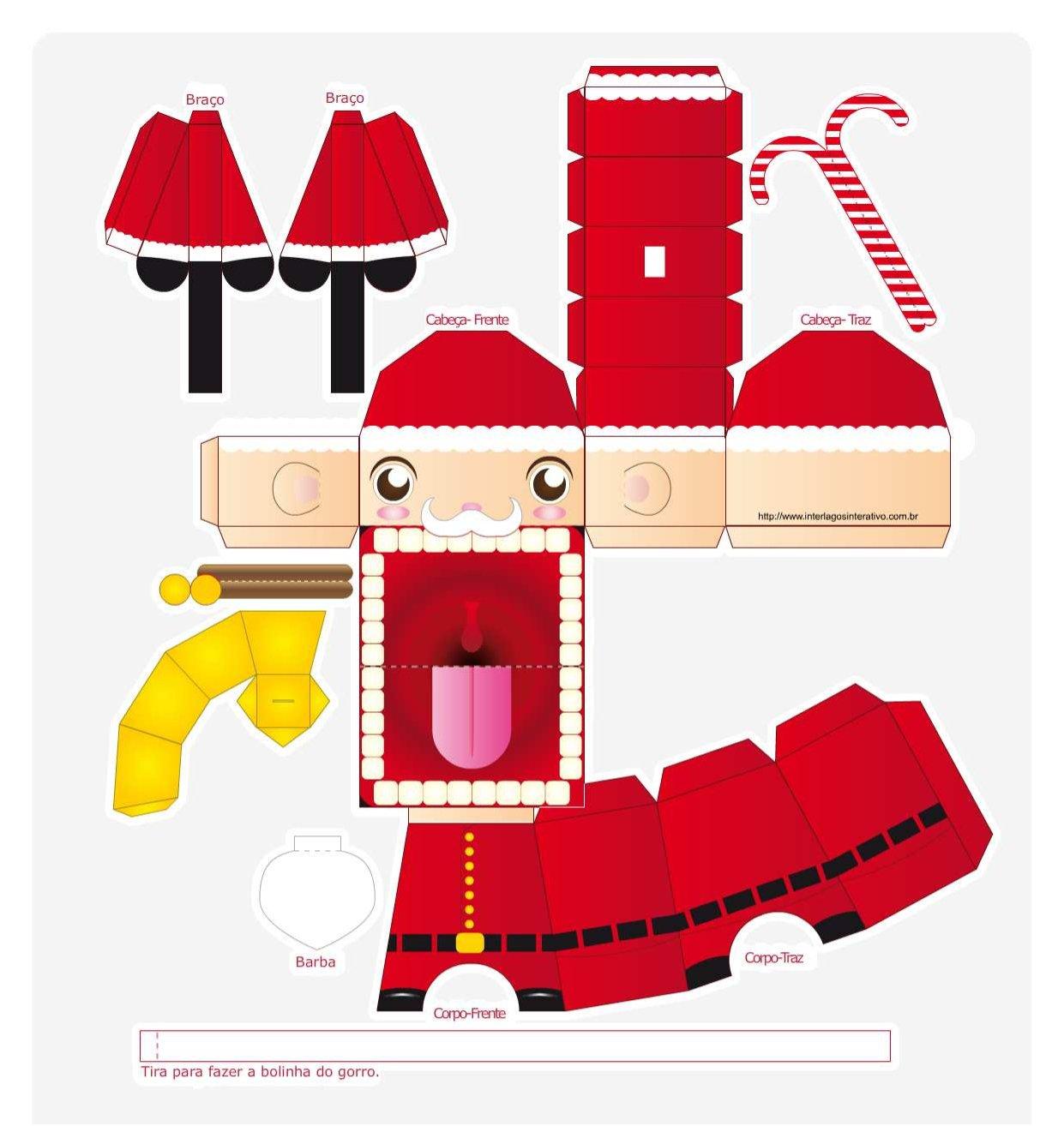 Para Imprimir  Paper Toys De Natal