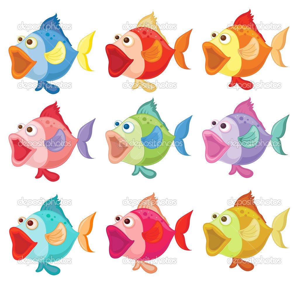 Peixes Coloridos — Vetor De Stock © Interactimages  43065993
