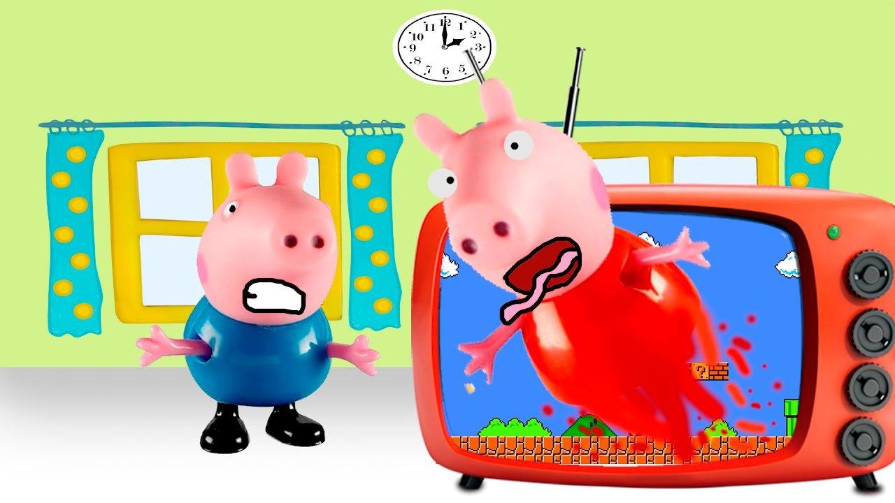 Peppa Pig Entra No Jogo Do Mario Bros E George Pig Ajuda Totoykids