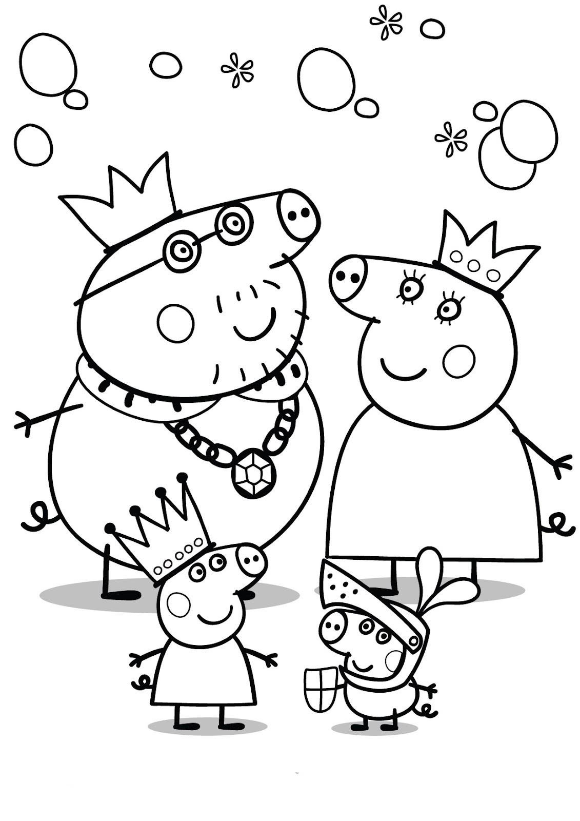 Peppa Pig Para Colorear – Club Peque Club Peque
