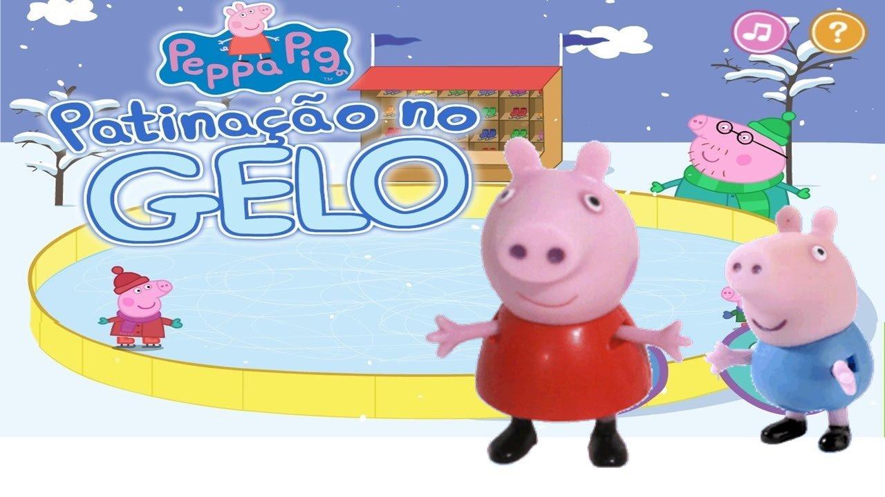 Peppa Pig PatinaÇÃo No Gelo Jogos Da Peppa Pig Toys Surprise