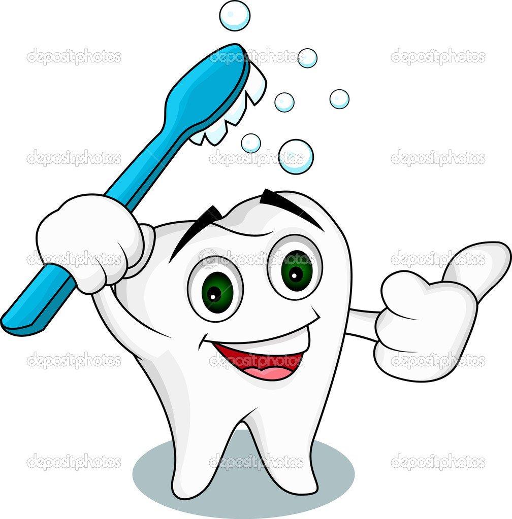 Personagem De Desenho Animado Do Dente — Vetor De Stock