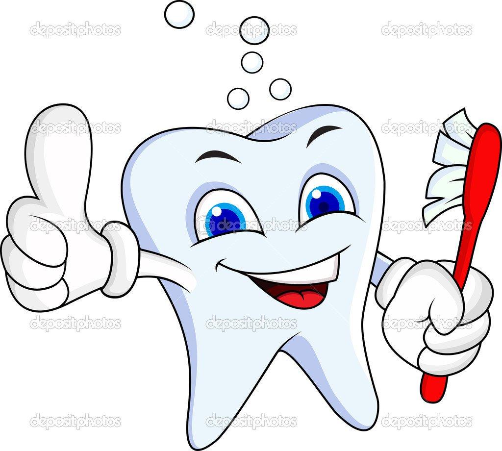 Personagem De Desenho Animado Do Dente — Vetores De Stock