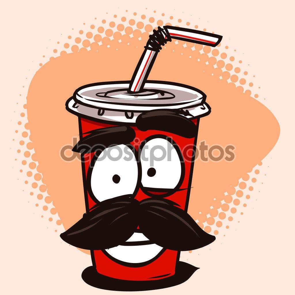 Personagem De Desenho Animado Engraçada De Cola Ou Refrigerante