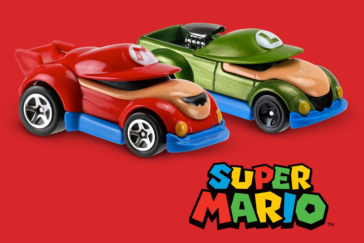 Personagens Do Jogo Mario Bros Se Transformam Em Carrinhos Hot Wheels