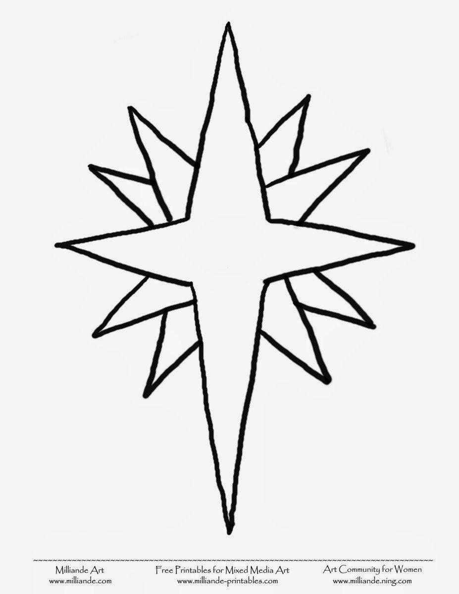Pintando E Colorindo   Desenhos De Estrelas De Natal Para Colorir