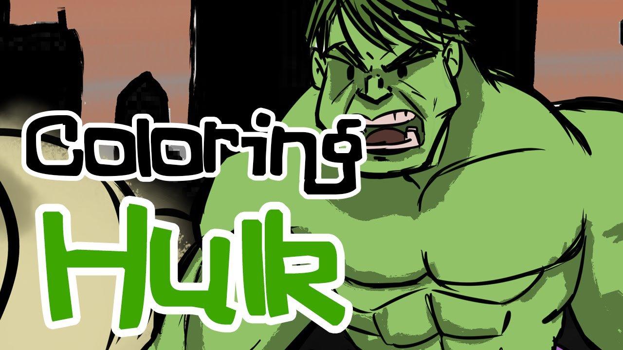 Desenho Do Hulk Para Pintar