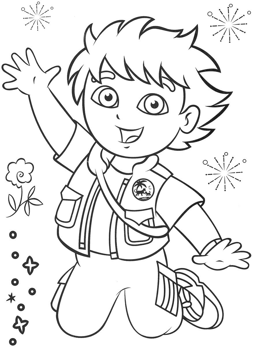 pintar o diego free coloring pages