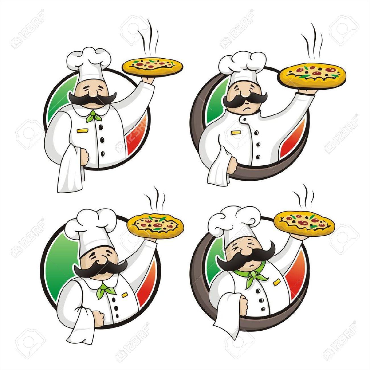 Pizzaiolo Vetor Royalty Free Cliparts, Vetores, E Ilustrações