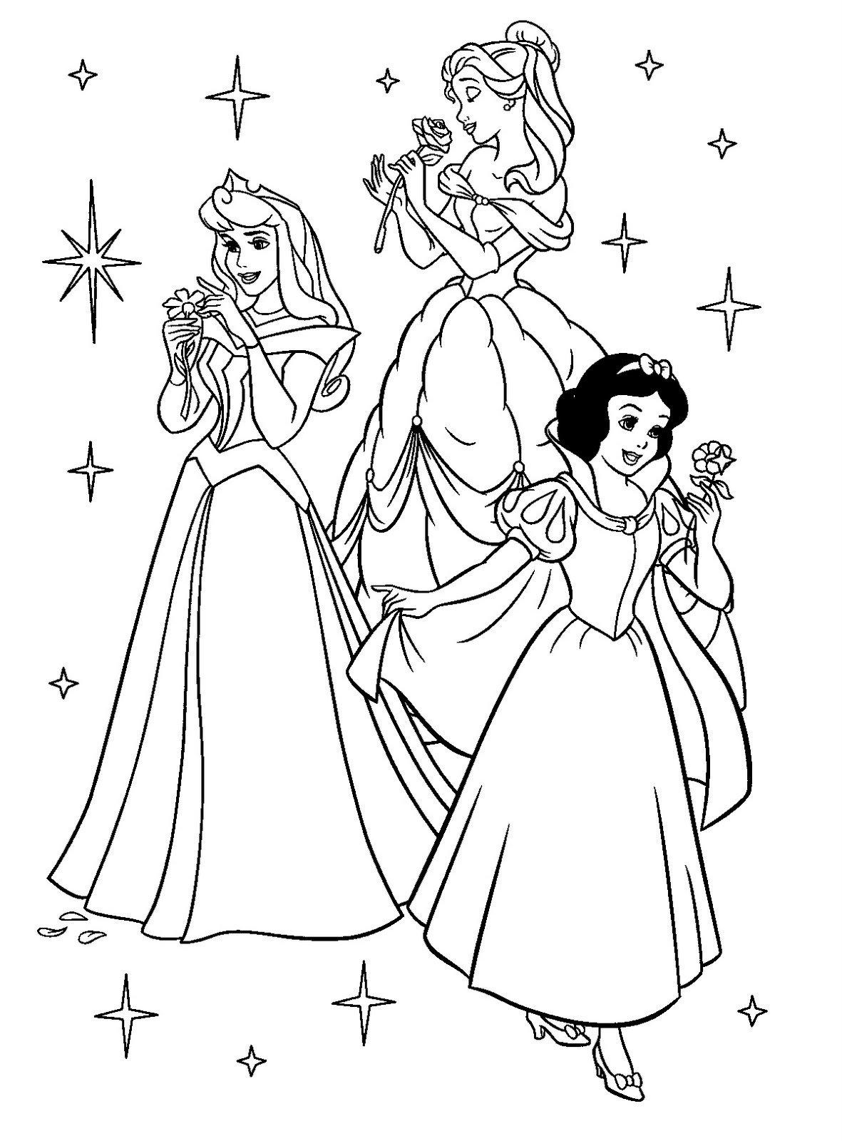 Princesas Da Disney Para Colorir
