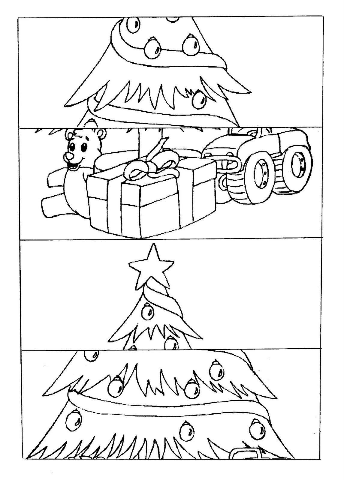 Quebra Cabeça Do Papai Noel Para Recortar