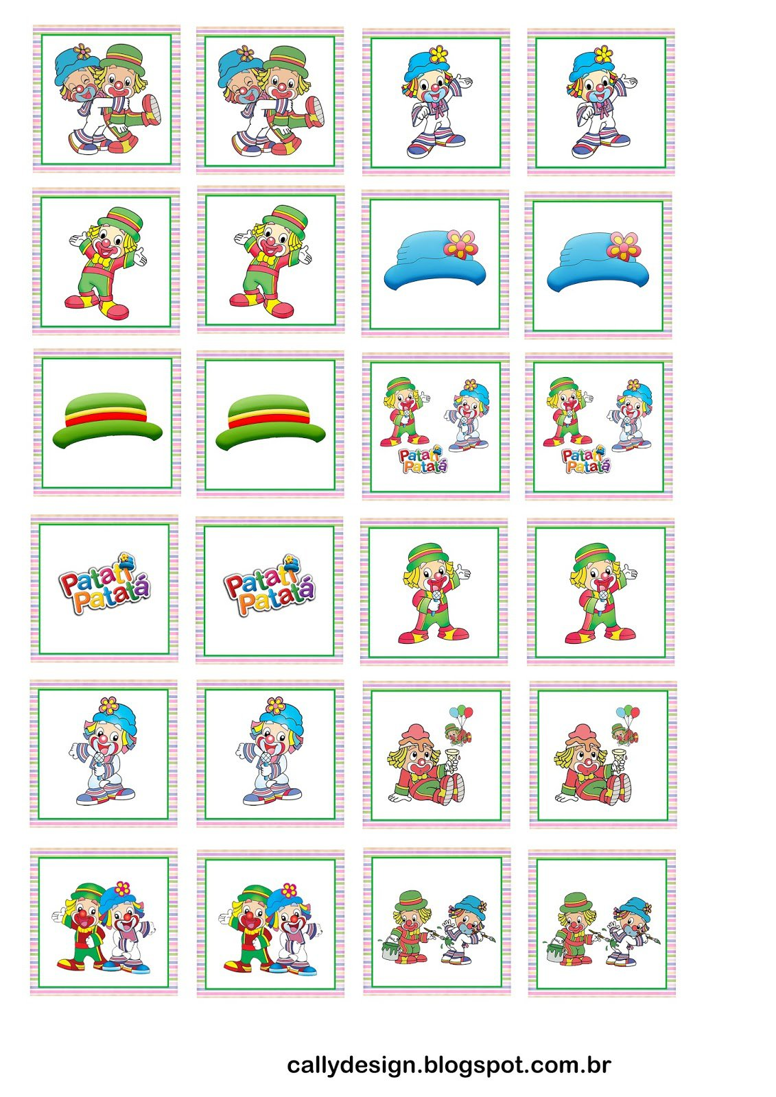 Quebra Cabeça E Jogo Da Memória Personalizados Para Imprimir