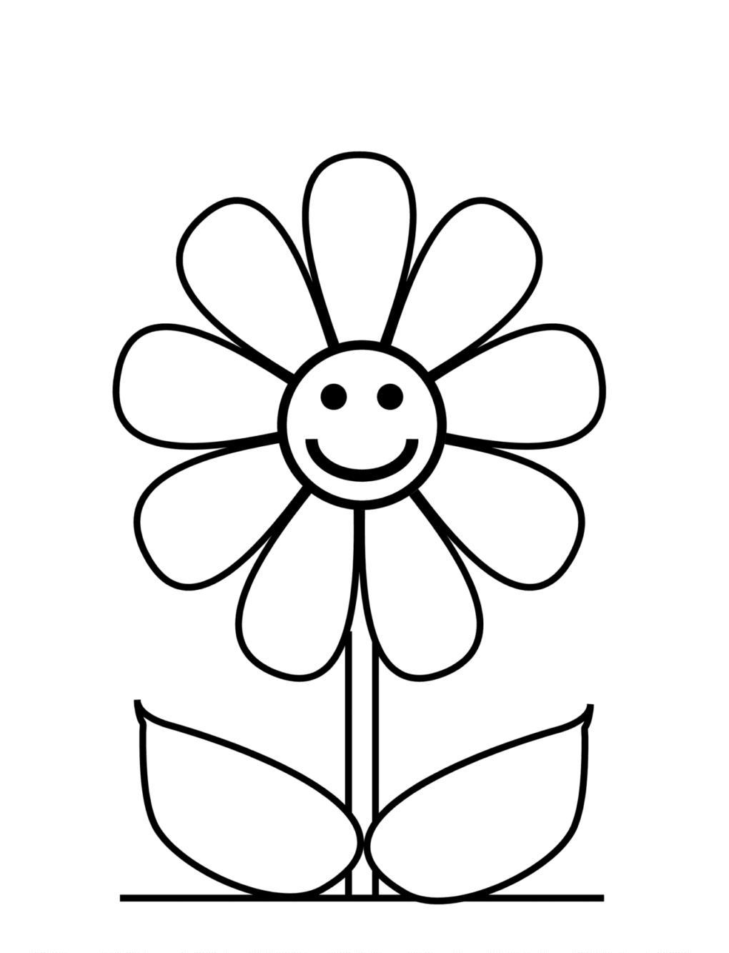 Ramo De Flores – Desenhos Para Colorir