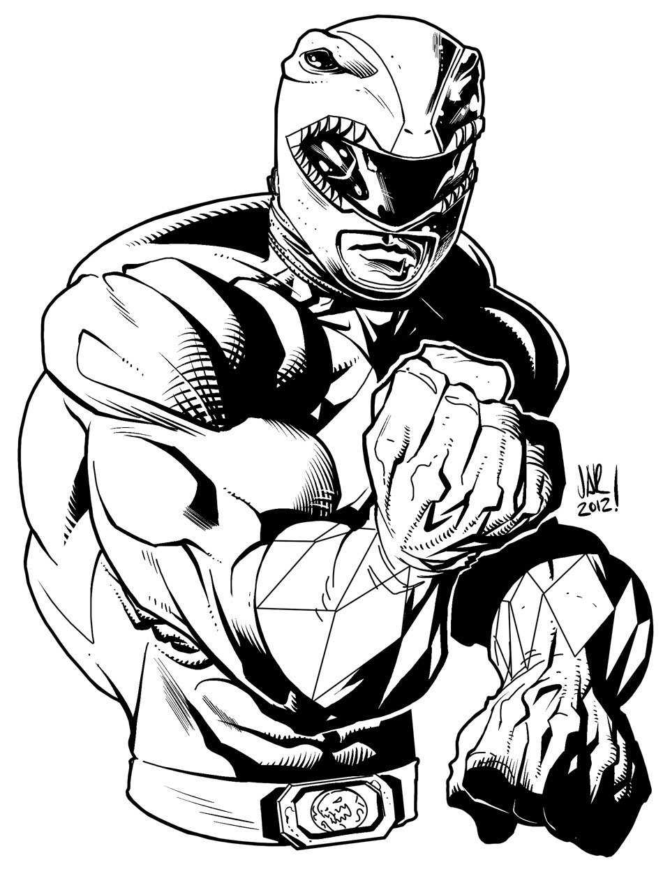 Red Ranger Inks By Jonathan