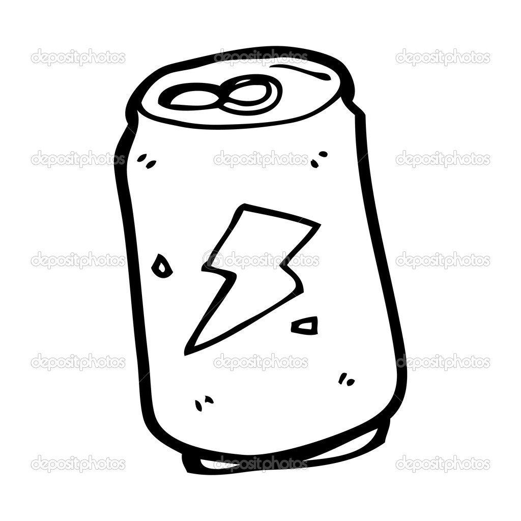 Refrigerante Pode Dos Desenhos Animados — Vetores De Stock
