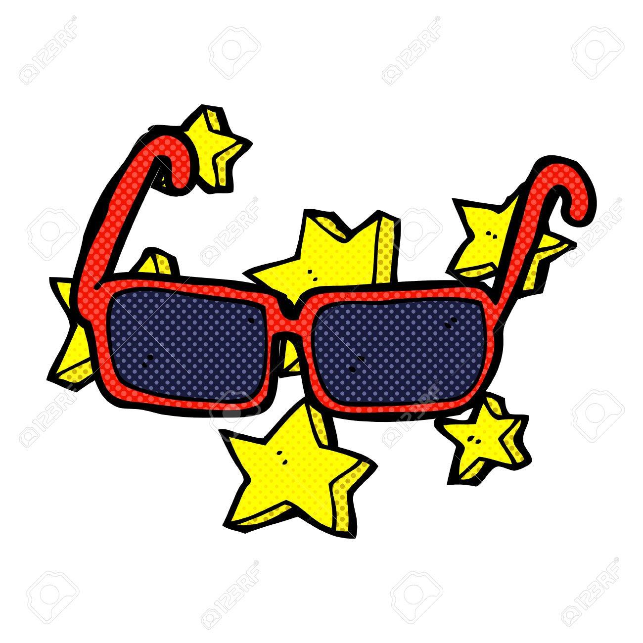 Retro Dos Desenhos Animados Do Estilo Da Banda Caros óculos