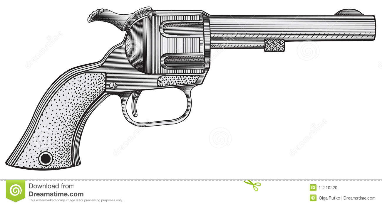 Revolver Vector Stock Photo